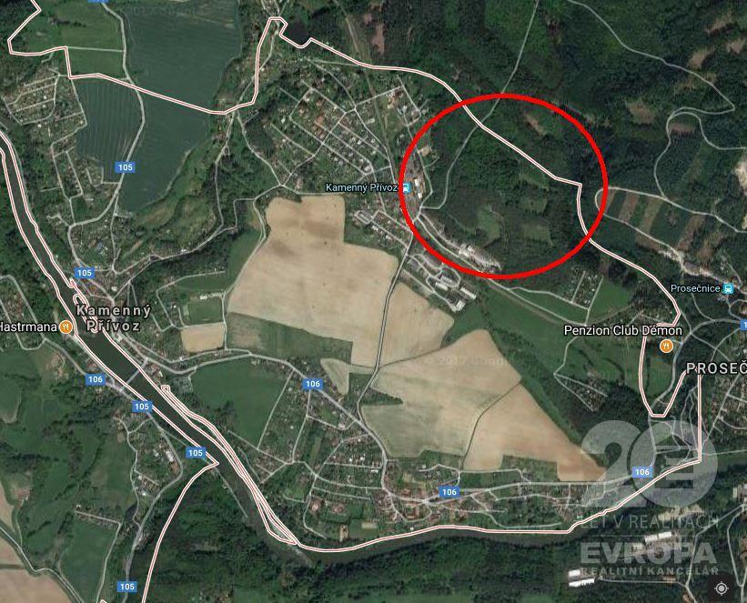Prodej bývalého kamenolomu a lesního pozemku s možným závozem o celkové výměře 104.201 m2.