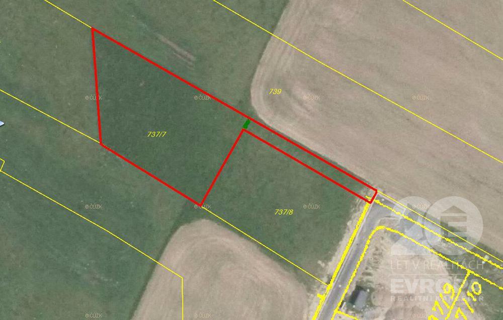 Skuteč - prodej stavebního pozemku 1543 m2