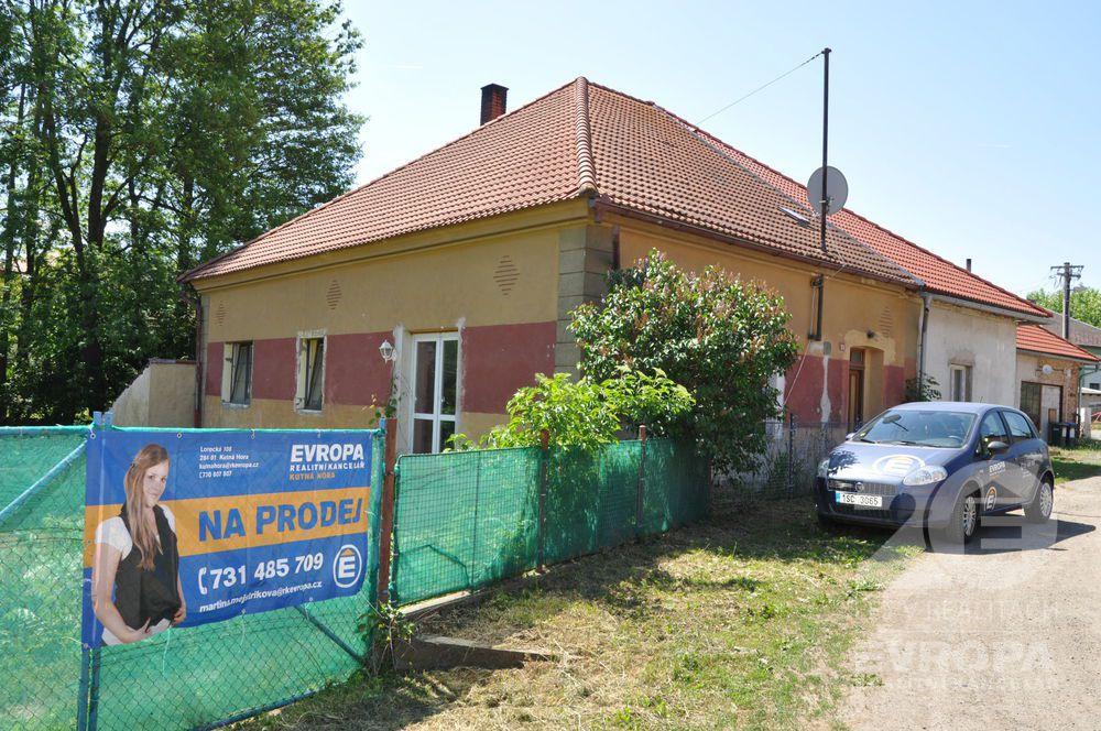 Prodej rodinného domu se zahradou v Křeseticích u Kutné Hory