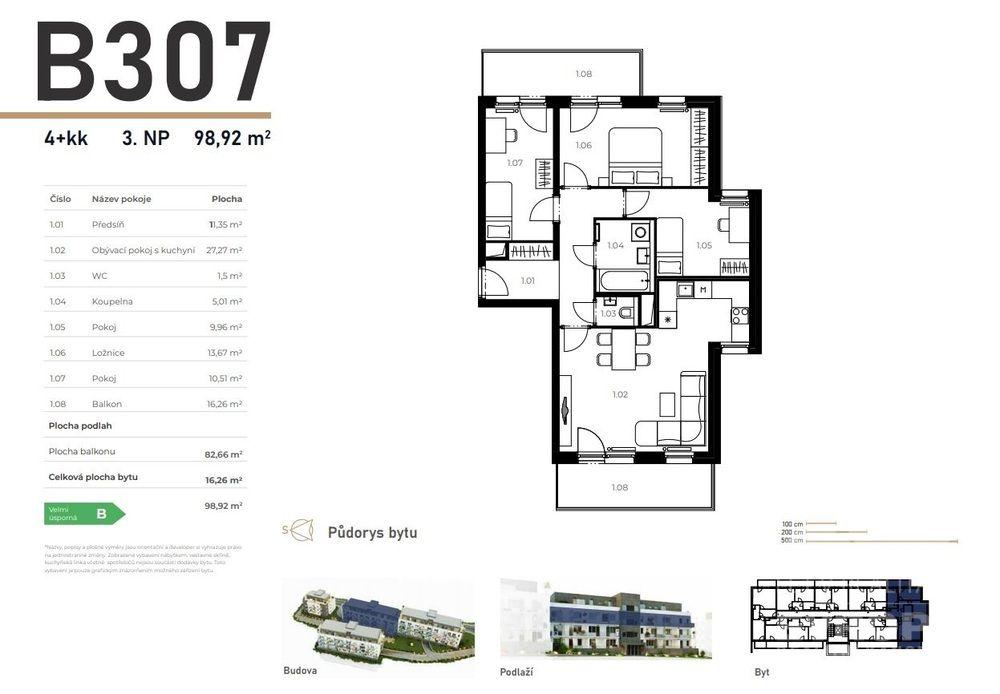 Prodej byt 4+kk v Unhošti západně od Prahy